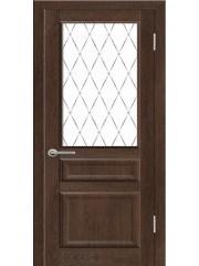 Межкомнатная дверь «Airon», Диана-03 коньячный дуб, с остеклением