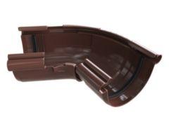 угол желоба регулируемый 120-145° ПВХ «Альта-Профиль», коричневый «Элит»