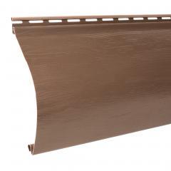 сайдинг акриловый однопереломный «Blockhouse», красно-коричневый