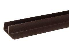 F-профиль для террасной доски, тёмно-коричневый