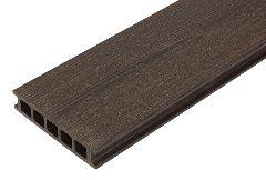 Террасная доска из ДПК (декинг) «SaveWood Fagus», тёмно-коричневая