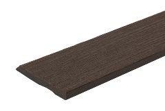 Торцевой профиль для террасной доски, тёмно-коричневый