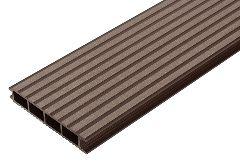 Террасная доска из ДПК бесшовная (декинг) «SaveWood Ulmus», тёмно-коричневая