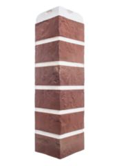 Угол фасадной панели «Альта-Профиль», кирпич рижский 01