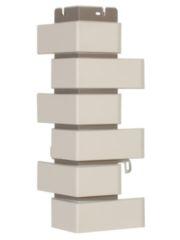 угол фасадной панели «Альта-Профиль», кирпич клинкерный белый