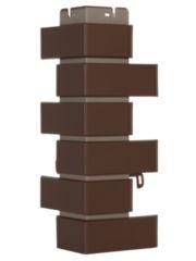 угол фасадной панели «Альта-Профиль», кирпич клинкерный коричневый