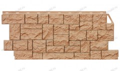 фасадная панель «FineBer», дикий камень терракотовый