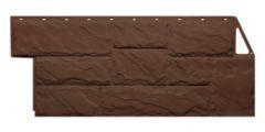 фасадная панель «FineBer», крупный камень коричневый