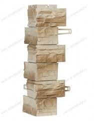 угол фасадной панели «Royal Stone», скалистый камень Оттава