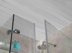 панель потолочная ПВХ двухсекционная, хром