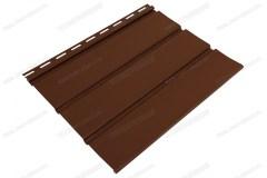 Софит коричневый «Ю-Пласт», без перфорации