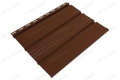 Софит коричневый «Ю-Пласт», частично перфорированный