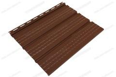 Софит коричневый «Ю-Пласт», полностью перфорированный