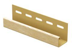 J-профиль для сайдинга «TimberBlcok», дуб золотой