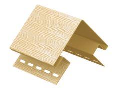 Наружный угол для сайдинга «TimberBlock», дуб золотой