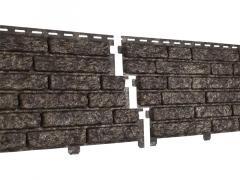 Сайдинг виниловый «Ю-Пласт», коллекция «Стоун Хаус», кварцит коричневый