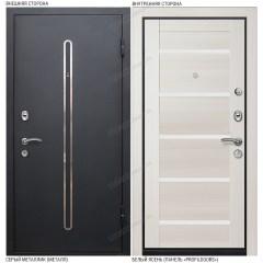 Входная дверь «Легран», модель «Кёльн 1». Серый металлик – Белый ясень