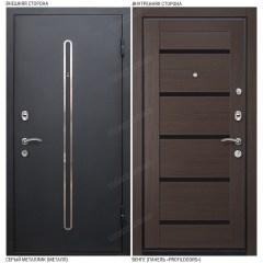 Входная дверь «Легран», модель «Кёльн 1». Серый металлик – Венге