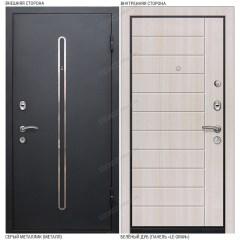 Входная дверь «Le-Gran», модель «Кёльн». Серый металлик – Белёный дуб