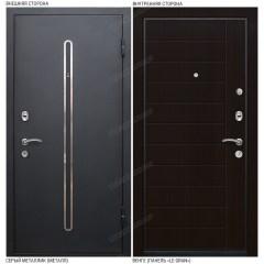 Входная дверь «Le-Gran», модель «Кёльн». Серый металлик – Венге