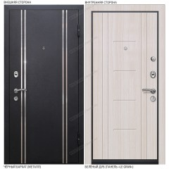 Входная дверь «Легран», модель «Мюнхен». Чёрный бархат – Белёный дуб