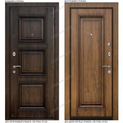 Входная дверь «Легран», база 42. Дуб коричневый (ST33) – Дуб шале корица (ST30)