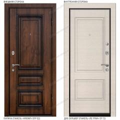 Входная дверь «Легран», база 42. «Vinorit» патина – Дуб сильвер