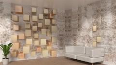 Матовая панель «Век», фотопечать, кубы