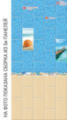 Глянцевая панель «Век», 3D фотопечать, песчаный берег